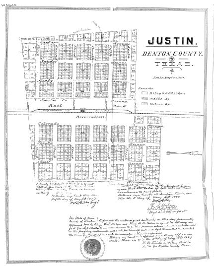 Map Of Justin Texas.Justin Street Names Project
